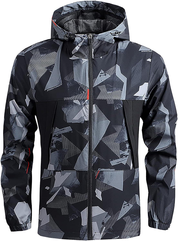 Fashionable Men's Lightweight Jackets Waterproof Trend Coat for Zipper H Portland Mall Men