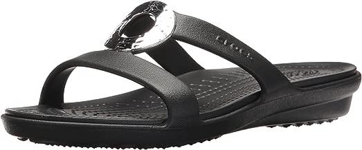 Crocs Women's Sanrah Hammered Metallic Sandal