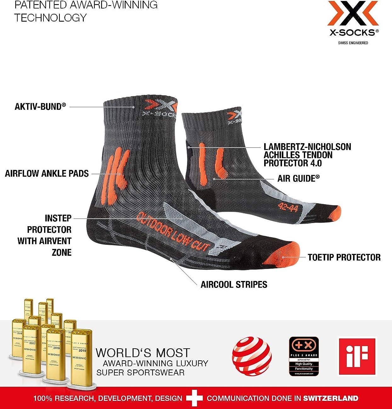 X-Socks Trek Outdoor Low Cut Calcetines de senderismo Unisex adulto