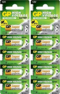 A23 12V Alkaline 23-A replacement battery 23AE GP - 10 Pack