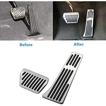 OCPTY Accelerator Gas Pedal Brake Pedal Cover Aluminum Alloy Foot Pedal Pads Kit fit for 00 01 02 03 04 05 06 07 08 09 10 11 12 13 14 15 16 17 BMW X5 X6