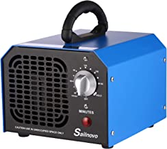 Sailnovo Commercial Ozone Generator 6,000mg O3 Air Purifier Deodorizer Sterilizer, Ozone Machine for Rooms Car Home Hotel Smoke Odor Eliminator - Black