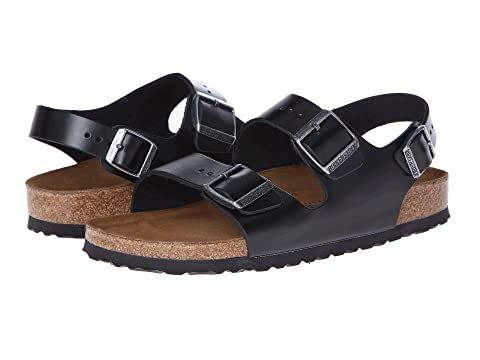 cd577a2b28c Birkenstock Milano - Leather Soft Footbed (Unisex) at Zappos.com