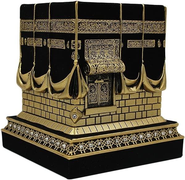 伊斯兰家居餐桌装饰卡巴复制品模型展示品书立开斋节礼物大号黄金