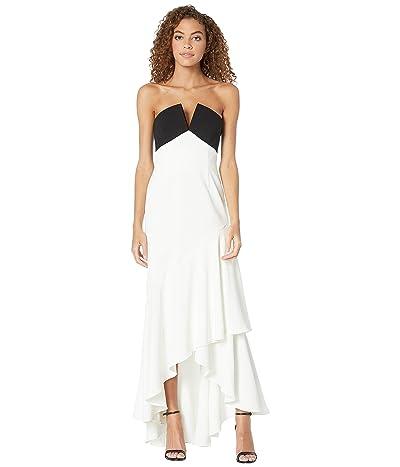 JILL JILL STUART Two-Tone Gown (Black/White) Women