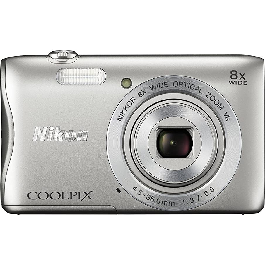 Nikon COOLPIX S3700 Digital Camera with 8x Optical Zoom and Built-In Wi-Fi (Silver)(Renewed)