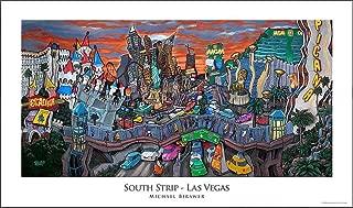 Michael Birawer Paintings South Strip - Las Vegas Poster Print