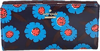 Kate Spade Tangier Floral Stacy Continental Wallet, Peacock Blue