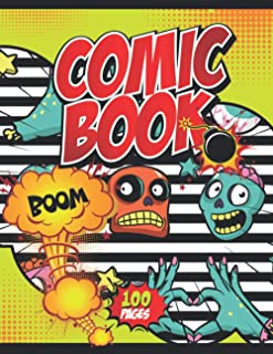 Comic Book Boom!: Notebook and Sketchbook for Kids and Adults to Unleash Creativity | Draw Your Own Comics! (Halloween The...