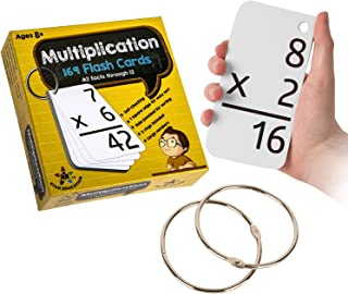Star Right Multiplication with 2 Metal Binder Rings   169 Self Checking Flashcards   for Ages 6 and Up