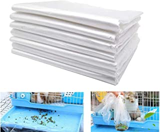 Rabbit Cage Liners Disposable Large Plastic Mat Films for Bunny Guinea Pigs Chinchillas Rats Hamsters Hedgehogs and Other ...