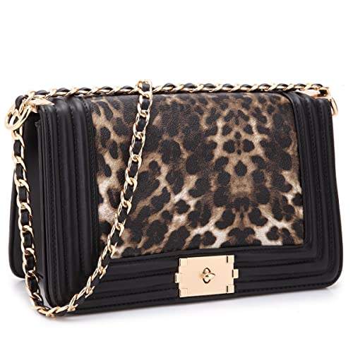 92e5c7668053 Dasein Women's Designer Quilted Crossbody Bags Twist Lock Shoulder Bags  Satchel Handbags w/Chain Strap