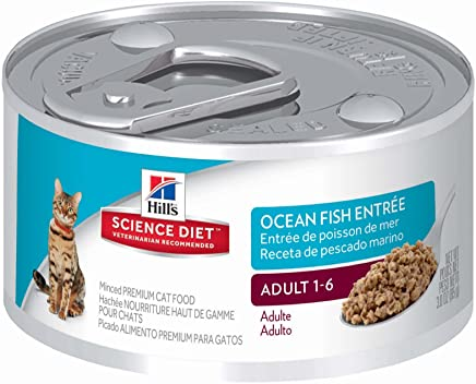 Hills Science Diet Adult Minced Canned Cat Food, 24-Pack