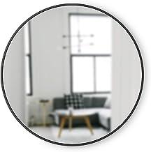 Umbra, moldura de borracha preta de cubo - espelho redondo de 45,72 cm para entradas, Espelho, Preto, 37-Inch, 1