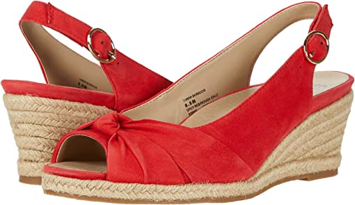 Spicy Red Silky Suede