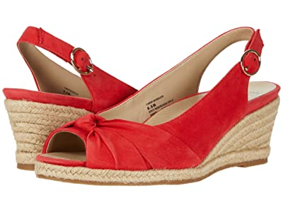Earth Thara Bermuda (Spicy Red Silky Suede) High Heels