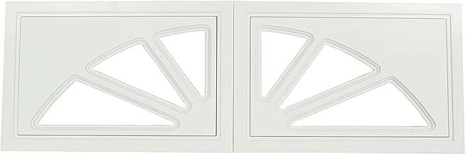 Garage Door Windows 2 Panel Set Design Sunburst