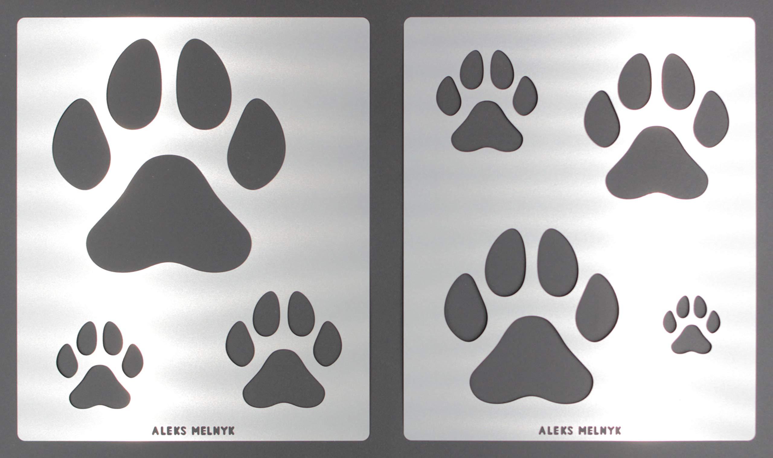Aleks Melnyk #61 Conjunto grande Plantillas Stencils de Metal para estarcir/Perro, Pata de Gato/para Arte Manualidades y decoración/Plantillas para Estarcidos/2 piezas/Bricolaje, DIY: Amazon.es: Hogar