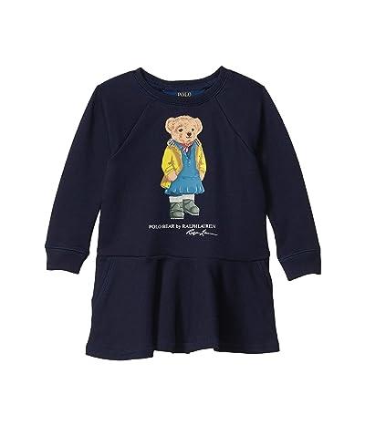 Polo Ralph Lauren Kids Raincoat Bear Terry Dress (Toddler) (Hunter Navy) Girl