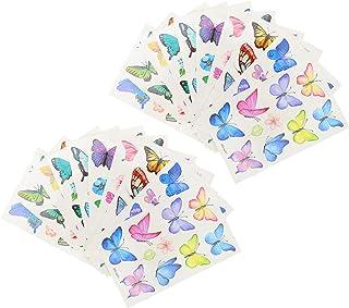 Beaupretty 20 Vellen Vlinder Tijdelijke Tatoeages Voor Kinderen Waterdichte Tijdelijke Tattoos Stickers Vlinders Transfers...