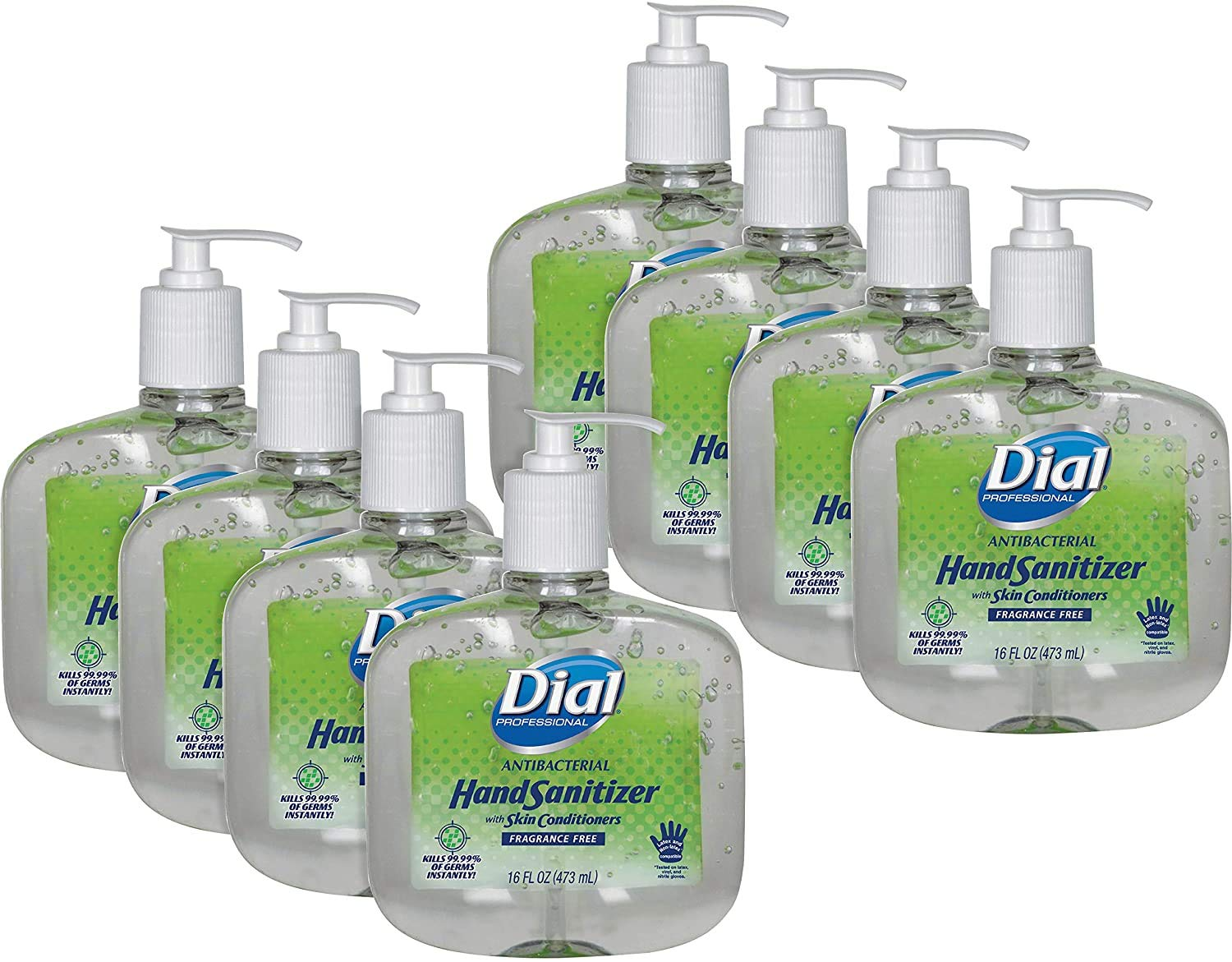 Dial Antibacterial Hand Sanitizers 16-oz with Japan's largest Quantity limited assortment Pump Moisturizers