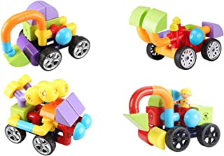 QJJ Variety of Large Particles Magnetic Block Pipeline Building Block Toy Magnetic Assembly Car Magnet Kindergarten Educat...