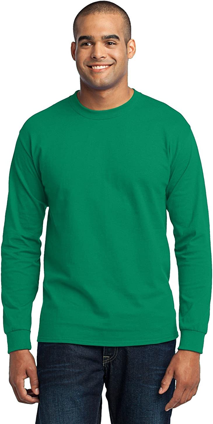 Port Company Price reduction Men's Tall Long Sleeve T Poly Shirt Cotton 50 Bargain sale