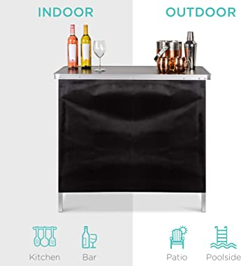 Best Choice Products Portable Pop-Up Bar Table for Indoor, Outdoor, Party, Picnic, Tailgate, Entertaining w/Carrying Case, St