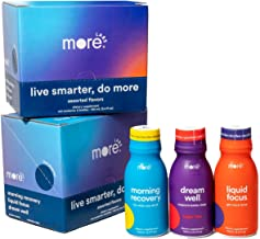 Lifehack Pack by More Labs: Assorted Smart Drinks - Morning Recovery, Liquid Focus, Dream Well - 4 Bottles of Each - Non-G...