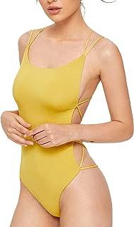 Women's Sleeveless Scoop Neck Strappy Backless Bodysuit