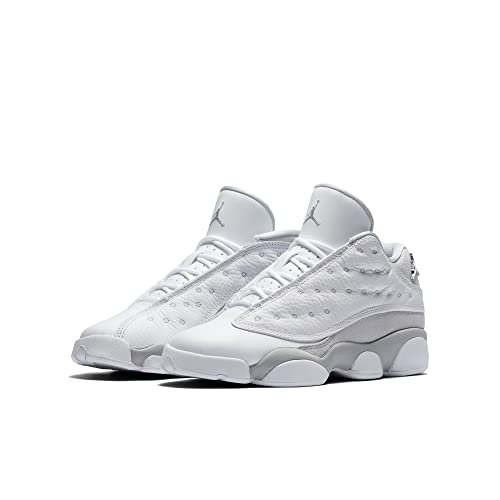 Jordan 13 Low Big Kids Shoe White/Metallic Silver 310811-100