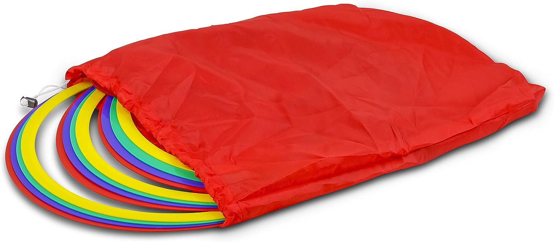 HAEST Juego de 12 Aros de Agilidad Multicolores con Bolso de Transporte