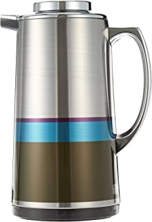Royalford 1L Silver Vacuum Flask - Stainless Steel Keeping Hot/Cold Long Hour Heat/Cold Retention, Multi-Walled, Hot Wate...