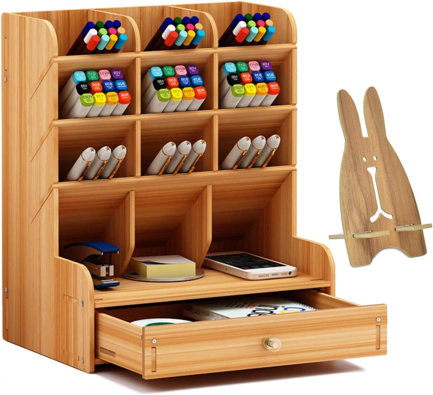 Wood Desk Organizer San Francisco Mall San Diego Mall With Drawer pen Holder Multipurpose Pencil