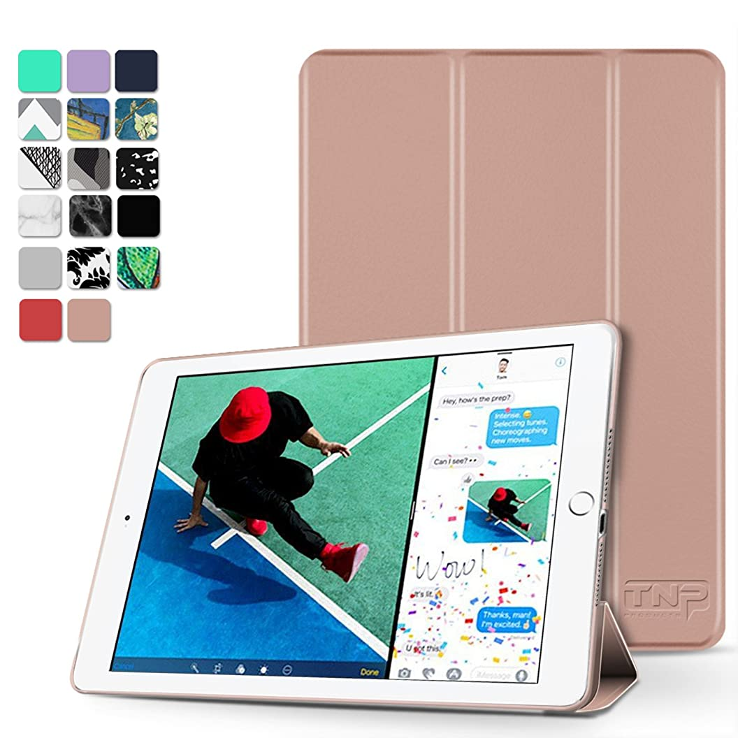 TNP New iPad 2018 2017 iPad 9.7 inch Case - Lightweight Smart Case Trifold Slim Shell Stand Cover with Auto Sleep Wake Function Feature for Apple iPad 9.7