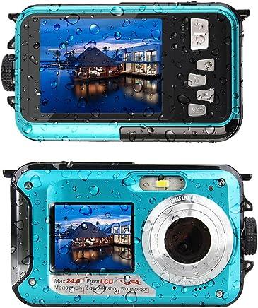 Waterproof Digital Camera Underwater Camera 24 MP Video...