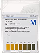 EMD Millipore MColorpHast 1.09542.0007 Non-Bleeding pH-Indicator Strip, 4.0-7.0 pH Range, Plastic Box (Case of 600)