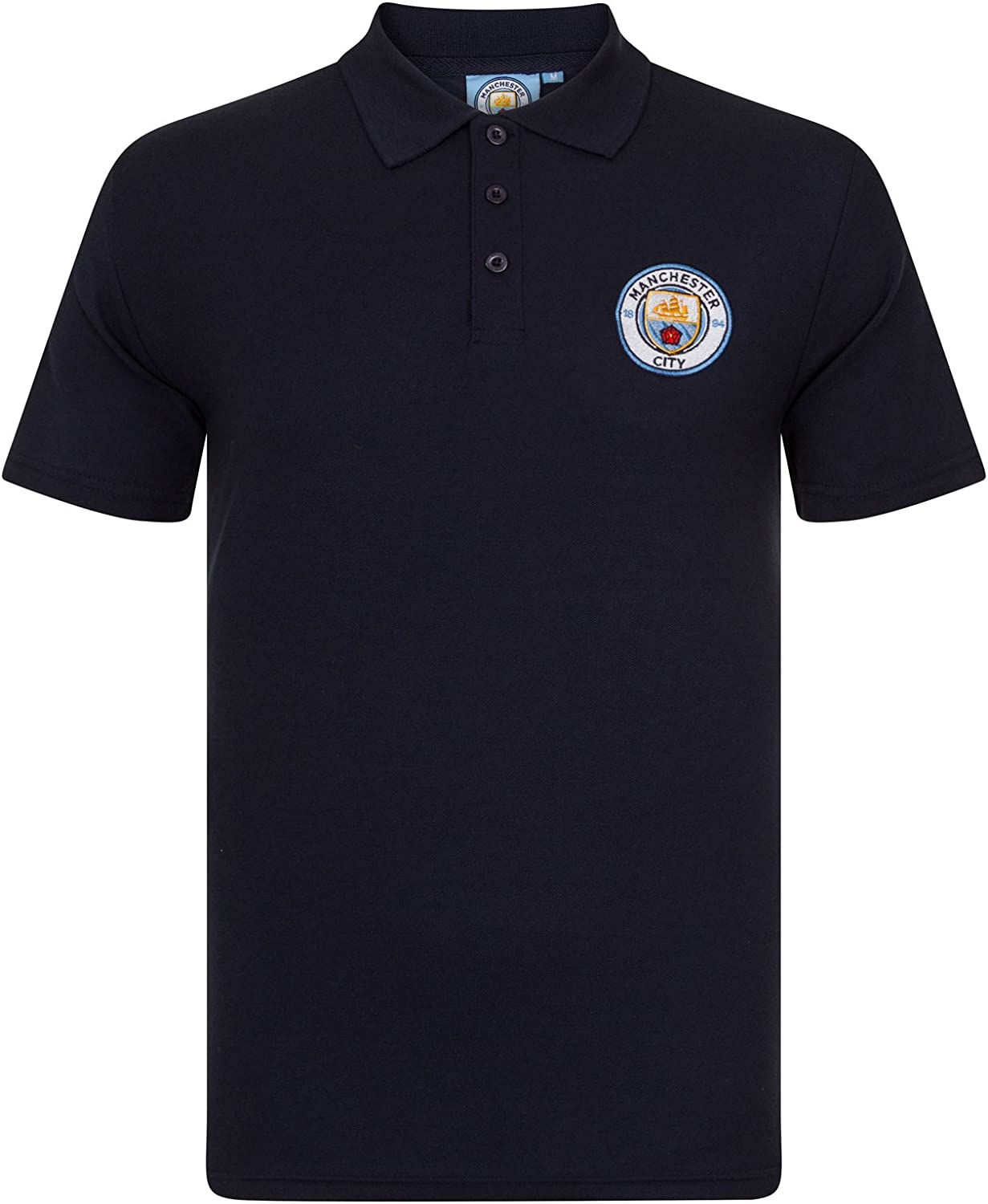 Manchester City FC Football Soccer At the price Polo Official Gift Mens Crest excellence