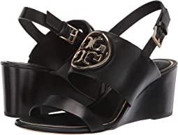5fefd456e861 Tory Burch. 65mm Metal Miller Wedge.  298.00. New. Perfect Black Gold