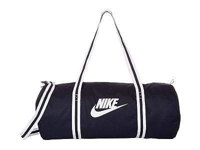 Nike Heritage Duffel Bag (Obsidian/Obsidian/White) Duffel Bags