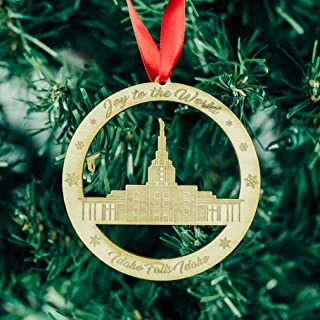 LDS Idaho Falls Temple Ornament - Wood