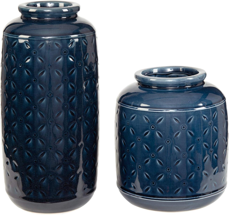 Ashley Furniture Signature sale Design Very popular - Set Navy Vase Marenda Blue