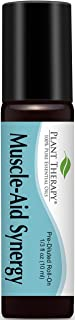 Plant Therapy Muscle Aid Synergy Pre-Diluted Roll-On 10 mL (1/3 oz) 100% Pure, Therapeutic Grade