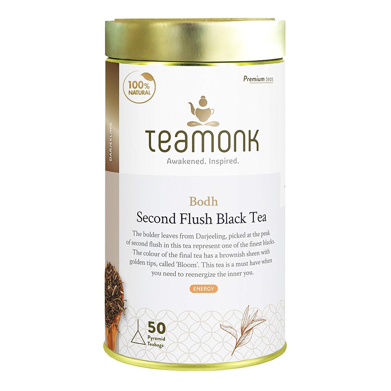 Teamonk Bodh Premium Max 86% OFF Darjeeling Organic 2021new shipping free shipping - 50 Black Tea Bags