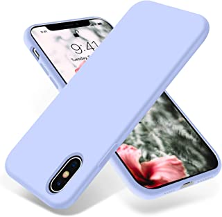 OTOFLY iPhone Xs Max Case,Ultra Slim Fit iPhone Case Liquid Silicone Gel Cover with Full Body Protection Anti-Scratch Shockproof Case Compatible with iPhone Xs Max, [Upgraded Version] (Light Purple)