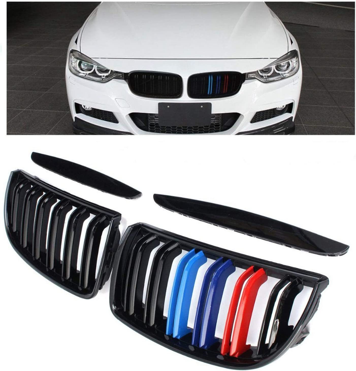 Front Many popular brands Kidney Grille Hood Grills with Line 200 -Double Compatible Virginia Beach Mall