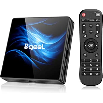 Bqeel Android 10.0 TV Box【4G+64G】, R2 Max Box Android TV RK3318 Quad-Core 64bit Cortex-A53/ Wi-FI 2.4G/5G+ LAN 100M /4K UHD/Boitier Android TV