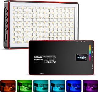 SESENPRO 防水 RGB 撮影用ライト ビデオライト 撮影照明ライト2500K-8500K CRI 97+ 360°フルカラー Type-C充電式 4400mAh 20モード照明効果 磁吸型LEDライト 生放送、YouTube、商品撮影、...