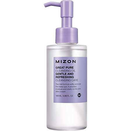 Mizon Great Pure Cleansing Oil, Facial Cleansing Oil to Remove Make-up and Moisturize Skin, Soft and Deep Cleansing with 4 plant-based Oils for Moisturizing Effect 145ml 4.9 fl. oz.