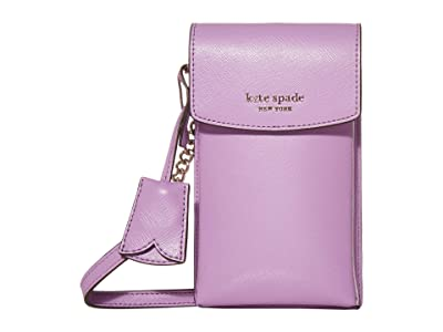 Kate Spade New York Spencer North/South Phone Crossbody (Iris Bloom) Handbags
